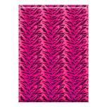 Bachelorette Zebra Lace Party Invite Hot Pink