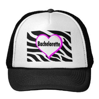 Bachelorette Zebra Stripes Trucker Hat