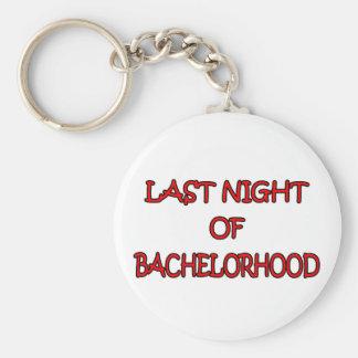 Bachelorhood Basic Round Button Key Ring