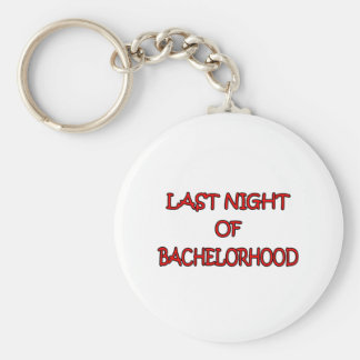 Bachelorhood Basic Round Button Key Ring