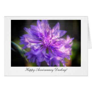 Bachelor's Button Cornflower - Happy Anniversary Card