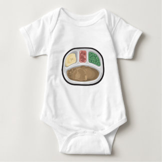 Bachelor's Dinner Tv Frozen Entree Baby Bodysuit