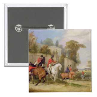 Bachelor's Hall, The Meet, 1835 (oil on canvas) 15 Cm Square Badge