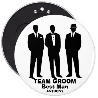 Bachelors night out 6 cm round badge