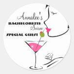 Bachlorette Martini Stickers