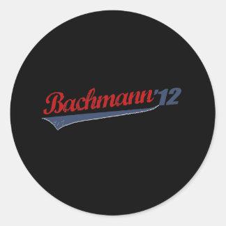 BACHMANN '12 LOGO1 ROUND STICKER