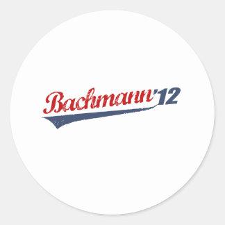 BACHMANN 12 LOGO ROUND STICKER