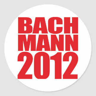BACHMANN 2012 -2 ROUND STICKER