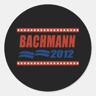 BACHMANN 2012 BANNER5 ROUND STICKER