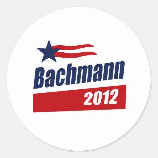 BACHMANN 2012 BANNER-6 ROUND STICKERS