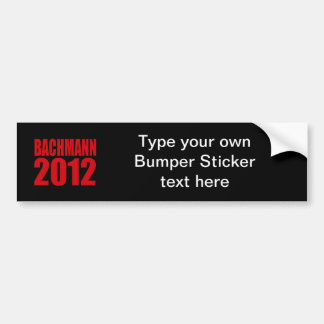 BACHMANN 2012 (Bold) Bumper Sticker