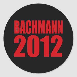 BACHMANN 2012 (Bold) Round Stickers