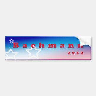 Bachmann 2012 bumper sticker car bumper sticker