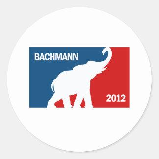 BACHMANN 2012 (PRO)3 ROUND STICKER
