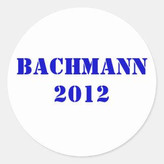 BACHMANN 2012 ROUND STICKER