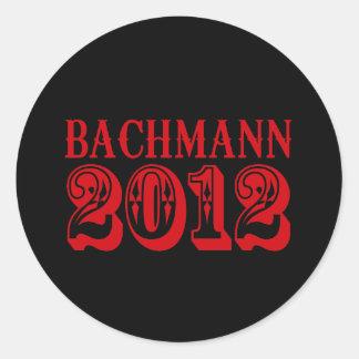 BACHMANN 2012 (WESTERN)4 ROUND STICKER