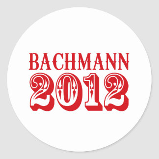 BACHMANN 2012 (Western) Round Stickers