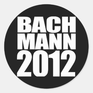 BACHMANN 2012 (white) Round Sticker