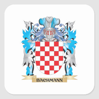 Bachmann Coat of Arms Square Stickers