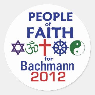 Bachmann Faith 2012 Round Stickers