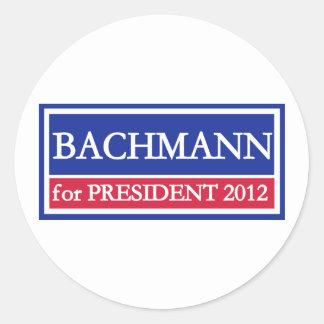 Bachmann for President 2012 Round Sticker
