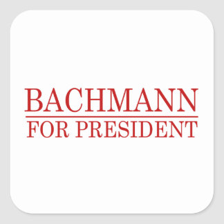 BACHMANN FOR PRESIDENT (Red Square Stickers