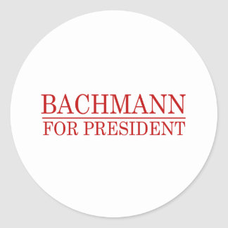 BACHMANN FOR PRESIDENT (Red Round Stickers