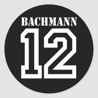 BACHMANN IN 12 (white) Round Stickers