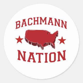 BACHMANN NATION ROUND STICKER