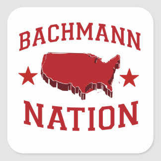 BACHMANN NATION SQUARE STICKERS
