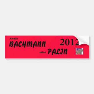 bachmann palin 2012 car bumper sticker