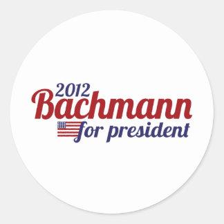 bachmann president 2012 round sticker