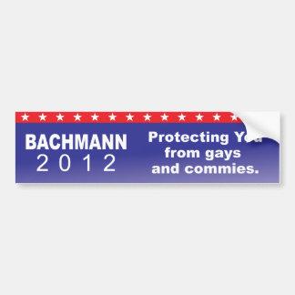 Bachmann protecting you bumper sticker