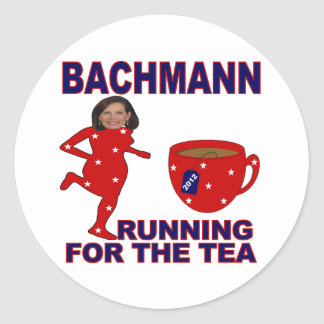 Bachmann Running for the Tea 2012 Round Sticker