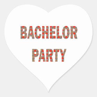 BACHOLER PARTY Engagement Wedding Honeymoon Stickers