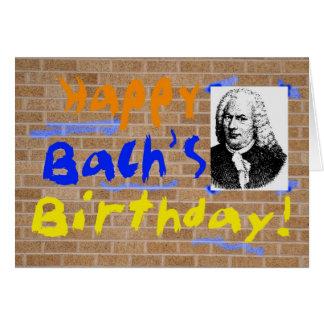 Bach's Birthday Greeting Card