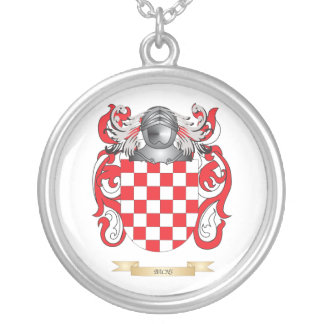 Bachs Coat of Arms (Family Crest) Round Pendant Necklace