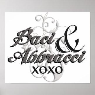 Baci & Abbracci - Hugs & Kisses - XOXO Poster
