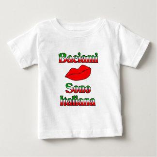 Baciami Sono Italiana (Kiss Me I'm Italian) Baby T-Shirt