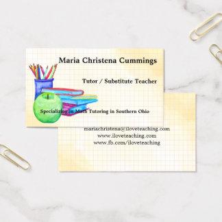 Back 2 Basics Watercolor Education Business Card