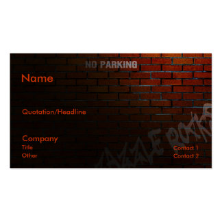Back Alley Pack Of Standard Business Cards