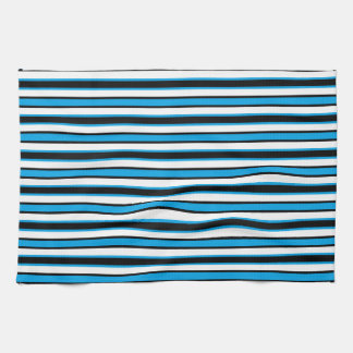 Back and Forth Black and Turquoise Tea Towel