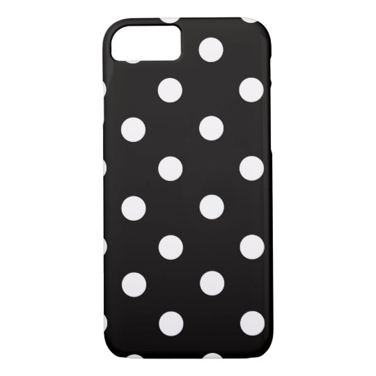 Back and White Polka Dot iPhone 7 case