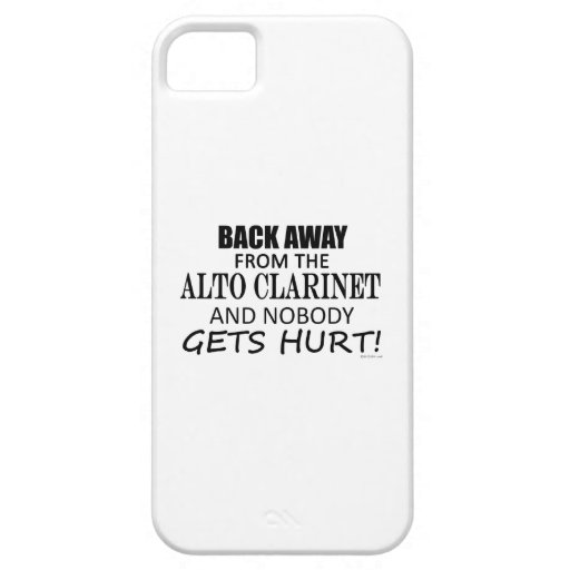 Back Away From The Alto Clarinet iPhone 5 Covers