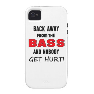 Back away from the bass and nobody get hurt! vibe iPhone 4 covers