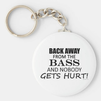 Back Away From The Bass Basic Round Button Key Ring