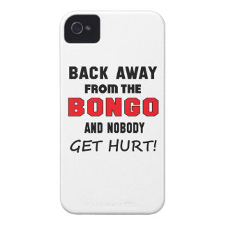 Back away from the bongo and nobody get hurt! iPhone 4 Case-Mate cases