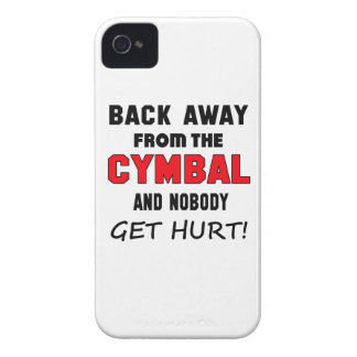 Back away from the cymbal and nobody get hurt! iPhone 4 cover