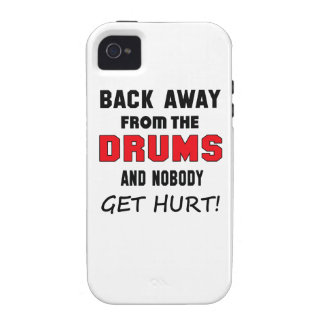 Back away from the drums and nobody get hurt! iPhone 4 cases