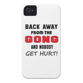 Back away from the Gong and nobody get hurt! iPhone 4 Case-Mate Case